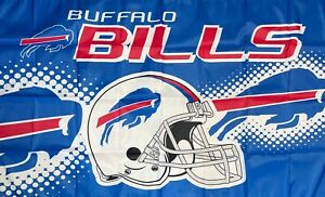 Buffalo Bills NFL Logo Flag 3x5 ft Sports Football Blue Banner Man-Cave Garage