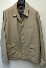 "Paul Smith ""PS"" Rain / Over Coat Concealed Buttons Beige Size L Pit to Pit 23.5"