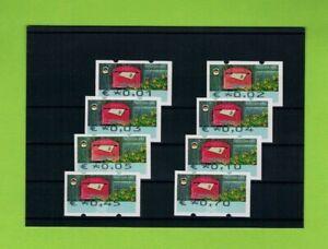 Seltener ATM-Restwertsatz MIT €uro-Emblem 1-70 8 Werte ** FEHLVERWENDUNG Nr. 9 F