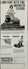 British Anzani Lawn Care with Time and Breath To Spare Vintage Advert 1964