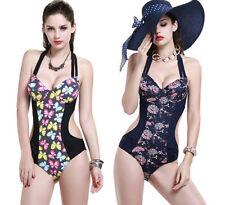 Strappy, Spaghetti Strap Floral Monokinis Swimwear for Women