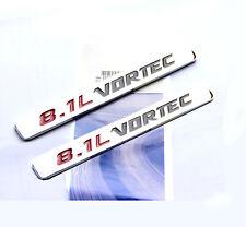 2x OEM Chrome 8.1L VORTEC emblem Badge 3D decal GMC Sierra 2500HD 3500HD W2U