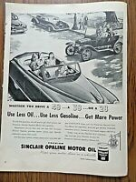 1948 Sinclair Opaline Motor Oil Ad Automobiles Whether you Drive 48 38 28
