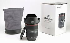 Canon EF 24-70mm F2.8 L MK II - MARK II  USM AF Zoom Lens + F/R Lens Caps + Hood