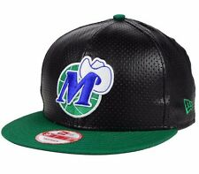 Dallas Mavericks NBA New Era 9FIFTY Faux Leather Adjustable Snapback Cap Hat