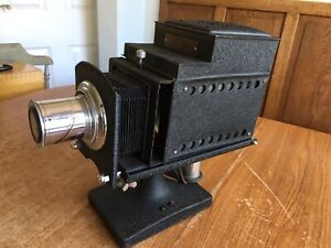 Ensign Optiscope No.6 Magic Lantern Projector & Slides & Extras - Herefordshire