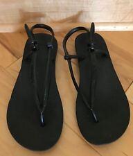 Havaianas Fit Flops, Black, Size 35/6