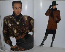 ESCADA Fashion Catalog Book Advertising  Marketing Autumn Winter Vintage 1987