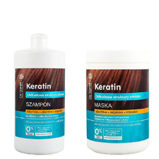 Dr Sante Keratin Hair Mask and Shampoo Collagen Arginine for Brittle Hair 1000ml