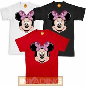 Disney Girls Ladies  T-shirt Minnie Mouse Classic 90th Top Tee All Sizes