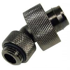 "1/4"" Thread 45° Rotary Compression Fitting 1/2"" ID - 3/4"" OD (13-19mm) Black"