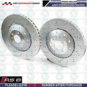 FOR AUDI RS6 FRONT OE QUALITY DRILLED FLOATING 2 PIECE BRAKE DISCS PAIR 390mm