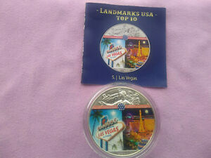 AMERICAN EAGLE 2020- LANDMARKS USA TOP 10 COLOR . ISSUE 5° - OZ 1 argento 999,9.