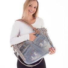 Sunsa DamenTaschen Handtasche Baumwolle&Jeans Schultertasche Badetasche Shopper