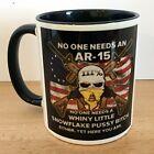 Coffee Mug 11oz  Funny AR-15 Design  White Mug Black Inside and Handle