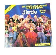 Vintage Barbie Sneak Preview 1991 15-Month Calendar No markings