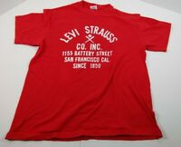 Vintage Levi Strauss Co Inc Single Stitch T-shirt Sz L