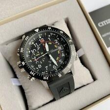 Citizen Promaster Land Watch * Eco-Drive BN4044-15E Black Rubber Strap for Men