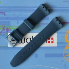 Swatch Silicone Rubber 19 mm Replacement Strap Band Blue Rebel