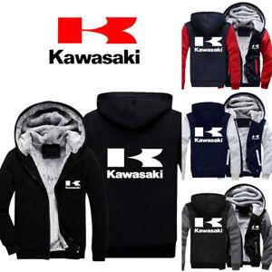 Herren Thick Moto Kawasaki Hoodie Kapuzenpullover Casual Jacket Cosplay Sweater