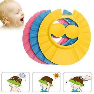 Toddler Baby Adjustable Bath Hat Anti-Shampoo Visor Shower Wash Hair Shield Caps