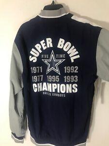Dallas Cowboys Mitchell & Ness NFL Men's  History Warm Up Jacket 2.0 Sz Small