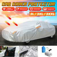 Universal Heavy Duty Full Car Cover Waterproof UV Protection Breathable 3XL 3XXL