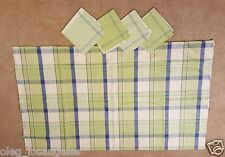 Vintage Russian Tablecloth with 4 Napkin linen, Made in USSR, New, Unused