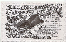 Greeting Postcard - Hearty Birthday Wishes    A3235