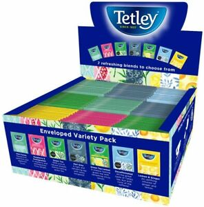 Tetley Indulgence Fruit & Herbal Tea Variety Pack - 90 x Sachets Bags Envelopes