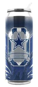 Dallas Cowboys Stainless Steel 16.9oz Thermo Can [NEW] NFL Tumbler Mug Coffee