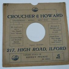 "10"" 78rpm gramophone record sleeve CROUCHER & HOWARD 217 High Road Ilford"