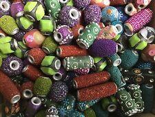 Assorted multicoloured Kashmiri/Bollywood style beads - 100g pack