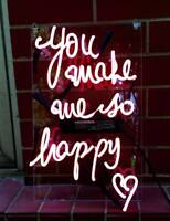"11""x9""You Make So Happy Neon Sign Light Propose Weeding Party Room Wall Display"