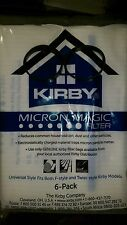 2 BELTS to fit Kirby & 6 F STYLE Cloth White Sentria Vacuum GENIUNE OEM BAGS