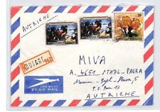 CA225 RWANDA Cover *Butare* Registered 1982 Air Mail MISSIONARY VEHICLES Austria