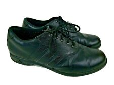 Adidas Traxion Golf Shoes Size 10.5 Black Leather Men's 791003