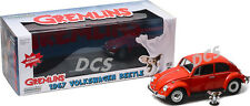 GREENLIGHT 1967 VOLKSWAGEN BEETLE RED WITH GIZMO FIGURE 1/18 DIECAST CAR 12985