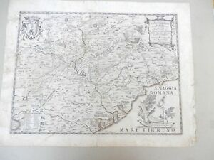 Mattei Innocenzo- Lazio campagna di Roma-Incisione su rame di G.Widman-1666