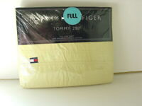 TOMMY HILFIGER 200 Cotton FULL Size Flat DAFFODIL PALE YELLOW Bed Sheet NEW NWT