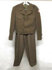 Vtg Ww2 1946 Us Army 4th Army Ike Olive Drab Uniform jacket & trousers Named Vet