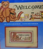 Dimensions Counted Cross Stitch Kit Heirloom Welcome 8347 Christmas Wall Hanging