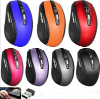 2.4GHz Wireless Optical Mouse Mice & USB Receiver For PC Laptop Computer DPI NEW
