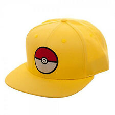 Pokemon Pokeball Yellow Snapback Hat NEW Clothing Cap Baseball