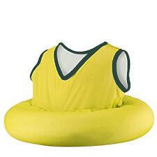 Kids inflatable innertube with soft fabric vest  Swim Training Yellow Toddler