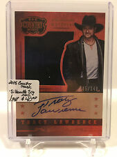 2015 Country Music : Silhouette Signature Materials - Tracy Lawrence AUTO /348