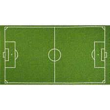 "Fabric Soccer Field Grass Astro Turf on Green Cotton Panel 24"" x 44"""