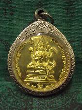 God Brahma Hindu Deity Magic Luck Charn Rich Talisman Thai Buddha Amulet Pendant