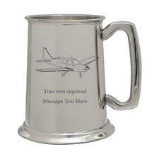 BEAGLE PUP AIRCRAFT PEWTER TANKARD Includes our own Message PILOT AVIATION GIFT