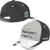 Pittsburgh Steelers Reebok NFL Conference Champions Adjustable Cap Hat